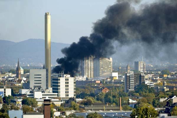 brand bei der muellverbrennung in ludwigshafen