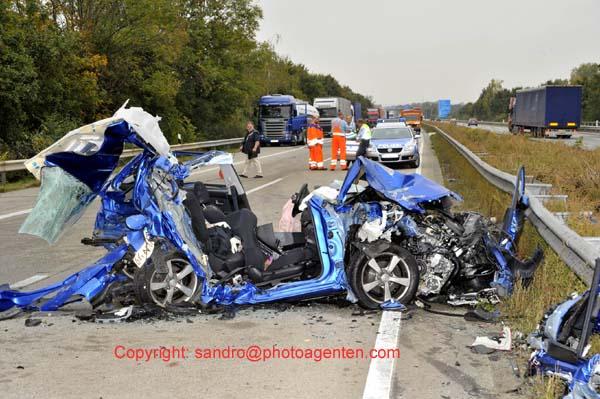 Unfall A61 Koblenz
